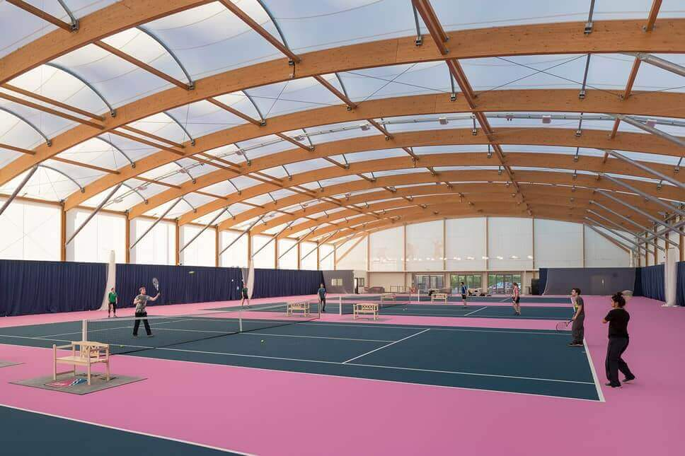 NOUVEAU TENNIS INDOOR POUR L'UNIVERSITE DE NOTTINGHAM (UK)