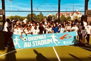 Partenariat avec la ville de Poissy sur l'évènement Ensemble au stadium sur le terrain multisports couvert